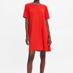 NWT Zara red statement collar dress